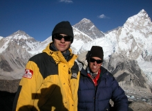 Atop Kala Pattar, with Everest behind