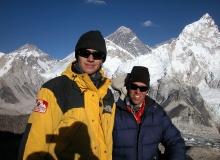 Atop Kala Pattar, with Everest behind